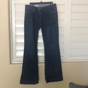 Gap Long and Lean Flare Jeans.  Size 29/8
